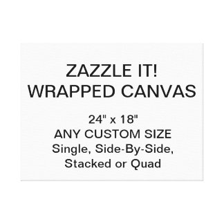 """Custom Personalized 24"""" x 18"""" Wrapped Canvas"""