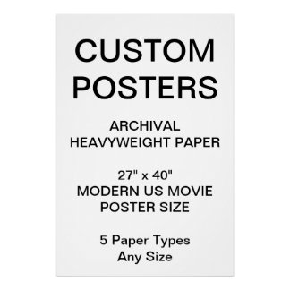 """Custom Personalized 27""""x40"""" Archival Paper Poster"""