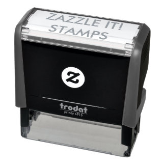 """Custom Personalized 2.65"""" x 0.9"""" Self-inking Stamp"""