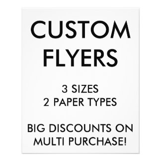 "Custom Personalized 4.5x5.6"" Flyers Blank Template"