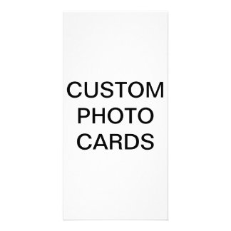 "Custom Personalized 4"" x 8"" Photo Card Blank"