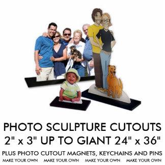 "Custom Personalized 5"" x 7"" Photo Sculpture"