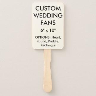 "Custom Personalized 6"" x 10"" WEDDING FANS Template"