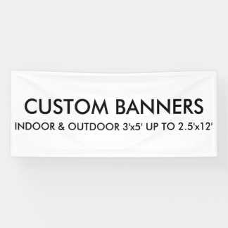 Custom Personalized 6'x2.5' Banner Blank Template