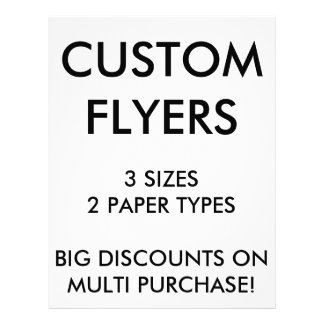 "Custom Personalized 8.5""x11"" Flyers Blank Template"