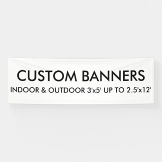 Custom Personalized 8'x2.5' Banner Blank Template