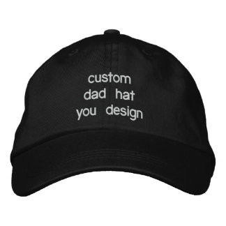 Custom Personalized Adjustable Dad Hats Embroidered Cap