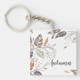 Custom Personalized Autumn Leaves | Keychain
