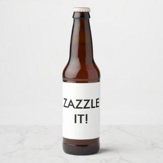 Custom Personalized Beer Bottle Label Blank