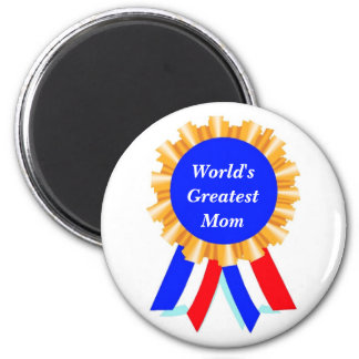 Custom Personalized Blue Ribbon Award Magnets