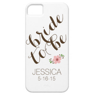 Custom personalized bride to be name wedding date barely there iPhone 5 case