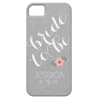 Custom personalized bride to be name wedding date iPhone 5 cover