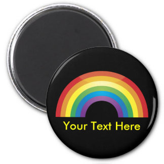 Custom Personalized Classic Rainbow Magnets