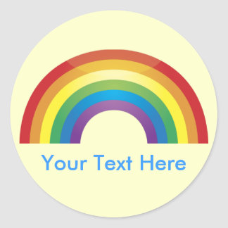 Custom Personalized Classic  Rainbow Stickers