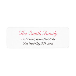 Custom Personalized Elegant Modern Return Address