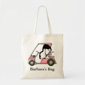Custom Personalized Funny Flamingo Golf Tote Bag