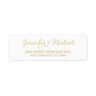 Custom Personalized Golden Wedding Return Address Return Address Label