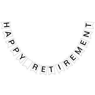 Custom Personalized Happy Retirement Flag Bunting