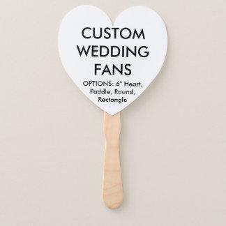 Custom Personalized HEART WEDDING FANS Template
