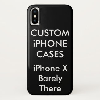 Custom Personalized iPhone X Barely There Case