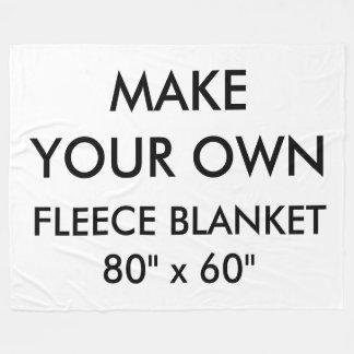 "Custom Personalized Large 80"" x 60"" Fleece Blanket"