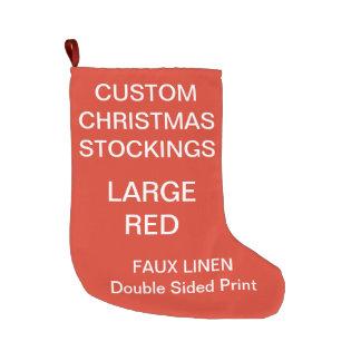 Custom Personalized Large RED Christmas Stocking