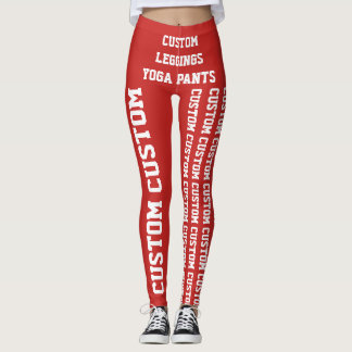 Custom Personalized Leggings or Yoga Pants Blank