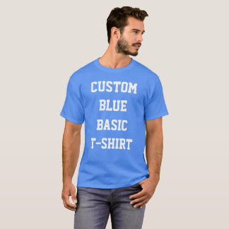 Custom Personalized Men's BASIC BLUE T-SHIRT
