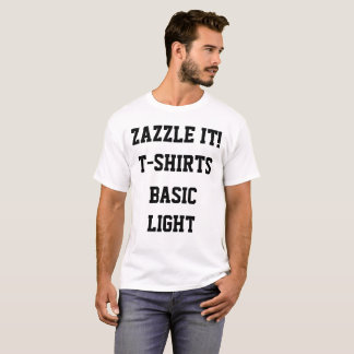 Custom Personalized Men's BASIC LIGHT T-SHIRT