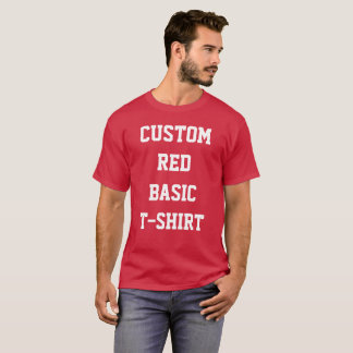 Custom Personalized Men's BASIC RED T-SHIRT