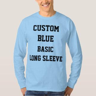 Custom Personalized Mens BLUE LONG SLEEVE T-SHIRT