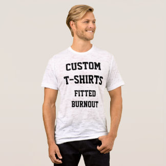 Custom Personalized Men's BURNOUT T-SHIRT Template