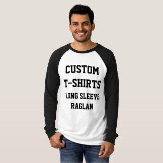 Custom Personalized Men's LONG SLEEVE RAGLAN T-Shirt