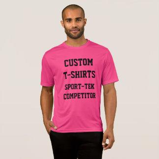 Custom Personalized Men's PINK SPORT-TEK T-SHIRT