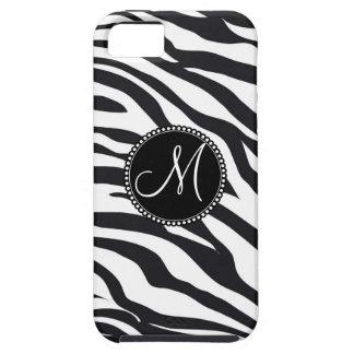 Custom Personalized Monogram Initial Zebra Stripes iPhone 5 Covers