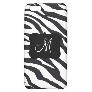 Custom Personalized Monogram Initial Zebra Stripes Case For iPhone 5C