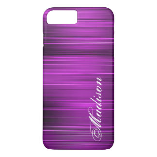 Custom Personalized Name Purple iPhone 7 Plus Case