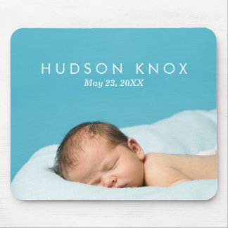 Custom Personalized Newborn Baby Photo Gift Mouse Mat