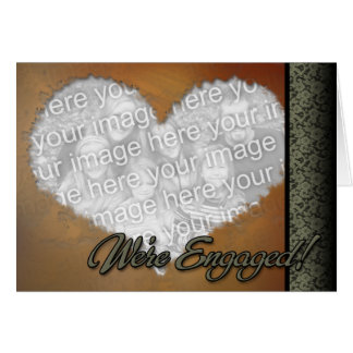 Custom Personalized Online Engagement Card