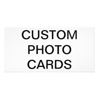 Custom Personalized Photo Card Blank Template
