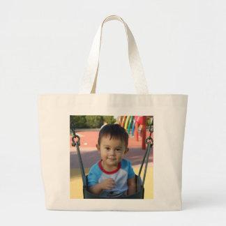 Custom Personalized Photo Large Tote Bag