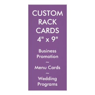 Custom Personalized Rack Card Blank Template