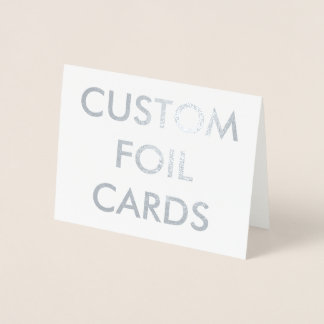 Custom Personalized Silver Foil Greeting Card