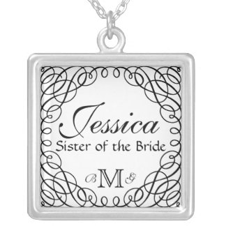 Custom Personalized Sister of the Bride Necklace