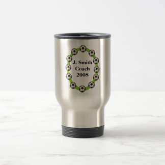 Custom Personalized Soccer Travel Mugs