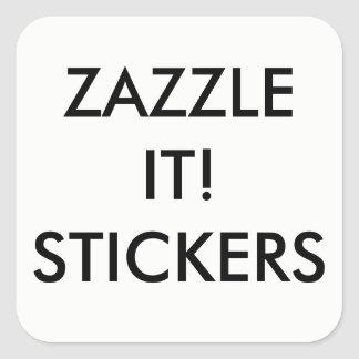 Custom Personalized Square Stickers Blank