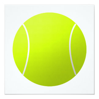 Custom Personalized Text Tennis Ball Square Party Card