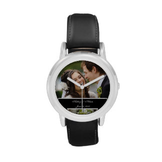 Custom Personalized Wedding Photo Keepsake Wristwatch