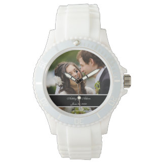 Custom Personalized Wedding Photo Keepsake Watch
