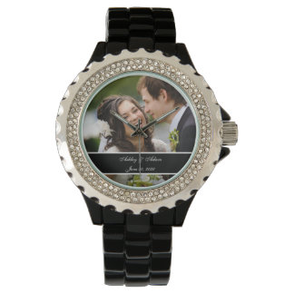 Custom Personalized Wedding Photo Keepsake Watches
